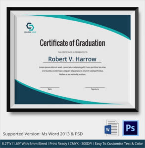 Free 19+ Graduation Certificates In Ai | Indesign | Ms Word with regard to Best Graduation Certificate Template Word