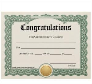 Free 19+ Sample Congratulations Certificate Templates In Pdf in Fresh Congratulations Certificate Templates