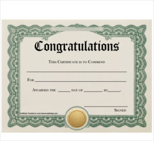 Free 19+ Sample Congratulations Certificate Templates In Pdf in Unique Congratulations Certificate Word Template