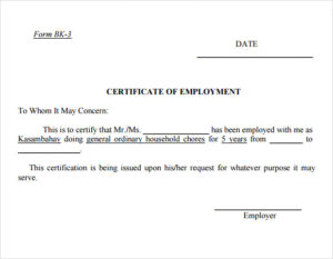 Free 19+ Sample Employment Certificate Templates In Pdf | Psd in Template Of Certificate Of Employment