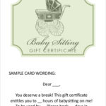 Free 19+ Sample Printable Gift Certificates In Pdf | Ms Word Inside New Babysitting Gift Certificate Template