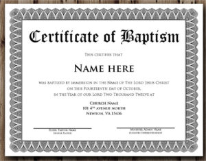 Free 20+ Baptism Certificate Samples In Psd | Pages | Ms Within Christian Baptism Certificate Template