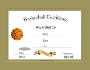 Free 20+ Sample Basketball Certificate Templates In Pdf | Ms for New Download 7 Basketball Participation Certificate Editable Templates
