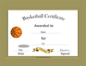Free 20+ Sample Basketball Certificate Templates In Pdf | Ms in Basketball Certificate Templates