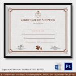 Free 23+ Sample Adoption Certificates In Ai | Indesign | Ms Throughout Fresh Child Adoption Certificate Template Editable
