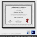 Free 23+ Sample Adoption Certificates In Ai   Indesign   Ms With Regard To Adoption Certificate Template