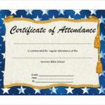 Free 23+ Sample Attendance Certificate Templates In Ai For Unique Perfect Attendance Certificate Template Free