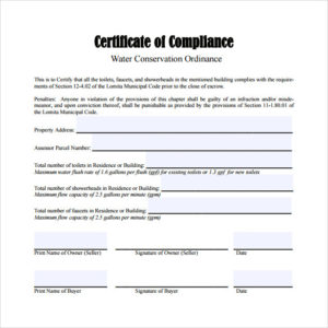 Free 25+ Sample Certificate Of Compliance In Pdf | Psd | Ai pertaining to Certificate Of Compliance Template 10 Docs Free