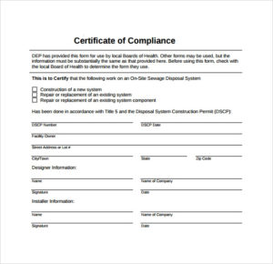 Free 25+ Sample Certificate Of Compliance In Pdf | Psd | Ai within Certificate Of Compliance Template 10 Docs Free