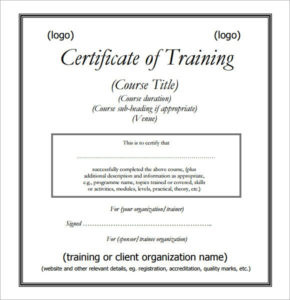 Free 28+ Training Certificate Templates In Ai | Indesign regarding Training Certificate Template Word Format