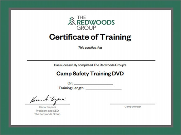 Free 28+ Training Certificate Templates In Ai | Indesign within Template For Training Certificate