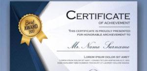 Free 30+ Printable Sample Certificate Templates In Ai in Certificate Template For Pages