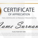 Free 32+ Certificate Of Appreciation Templates In Ai Pertaining To Unique Downloadable Certificate Of Recognition Templates
