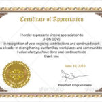 Free 34+ Sample Certificate Of Appreciation Templates In Pdf Throughout Employee Recognition Certificates Templates Free