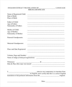 Free 42+ Certificate Forms In Pdf | Ms Word | Excel with regard to Birth Certificate Translation Template