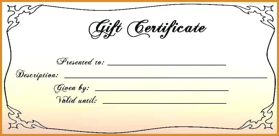Free 4X6 Gift Certificate Template Printable Gift within Unique Birthday Gift Certificate Template Free 7 Ideas