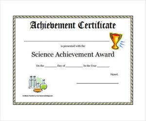 Free 52+ Printable Award Certificate Templates In Ai regarding New Science Achievement Certificate Template Ideas
