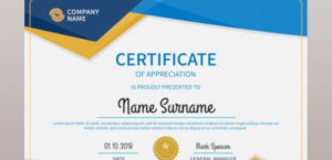 Free 52+ Printable Award Certificate Templates In Ai with regard to Certificate Of Recognition Word Template