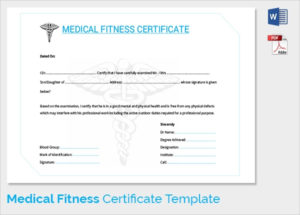 Free 54+ Sample Medical Certificates In Pdf | Ms Word pertaining to Physical Fitness Certificate Template Editable