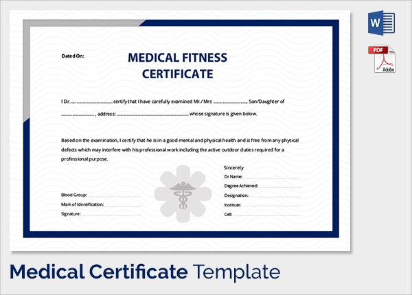 Free 54+ Sample Medical Certificates In Pdf | Ms Word with regard to Unique Physical Fitness Certificate Template Editable