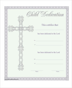 Free 6+ Baby Dedication Certificate Templates In Pdf intended for New Baby Christening Certificate Template
