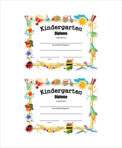 Free 6+ Sample Graduation Certificate Templates In Pdf pertaining to Quality 10 Kindergarten Diploma Certificate Templates Free