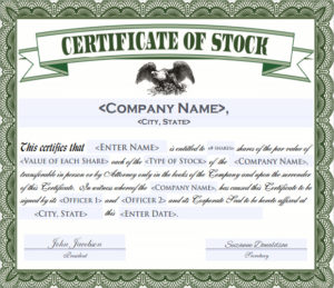 Free 6+ Sample Stock Certificate Templates In Google Docs for Unique Editable Stock Certificate Template