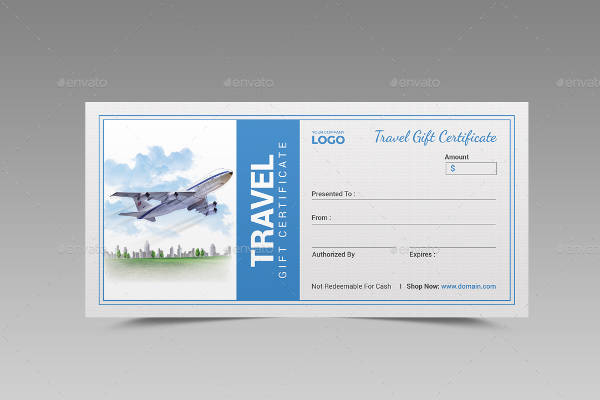 Free 60+ Sample Gift Certificate Templates In Pdf | Psd | Ms inside Travel Gift Certificate Templates
