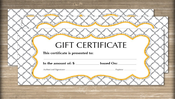 Free 60+ Sample Gift Certificate Templates In Pdf | Psd | Ms intended for Quality Dinner Certificate Template Free