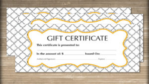 Free 60+ Sample Gift Certificate Templates In Pdf   Psd   Ms pertaining to Unique Present Certificate Templates