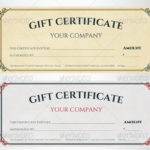 Free 60+ Sample Gift Certificate Templates In Pdf | Psd | Ms regarding Gift Certificate Template Photoshop