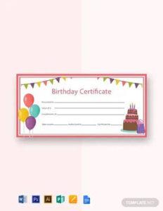 Free 7+ Sample Birthday Gift Certificate Templates In Eps for Birthday Gift Certificate Template Free 7 Ideas