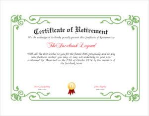Free 7+ Sample Retirement Certificate Templates In Pdf | Ms within New Retirement Certificate Template