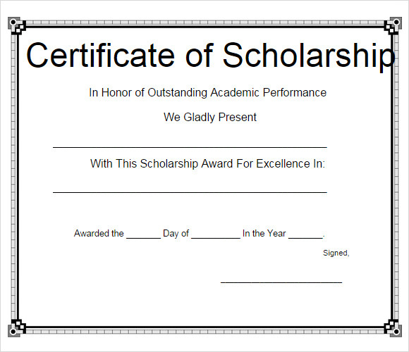 Free 7+ Scholarship Certificate Templates In Eps | Ai throughout Scholarship Certificate Template Word