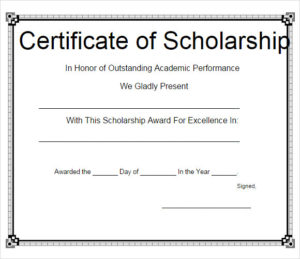 Free 7+ Scholarship Certificate Templates In Eps | Ai with Scholarship Certificate Template