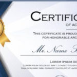 Free 8+ Ms Word Certificate Templates In Ms Word | Ai | Psd With Unique Microsoft Word Certificate Templates
