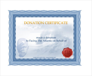 Free 8+ Sample Donation Certificate Templates In Pdf | Ms for Quality Donation Certificate Template