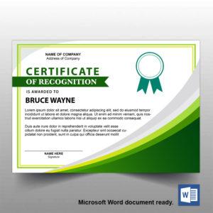 Free A4 Certificate Template 06 | Free Template Design in Landscape Certificate Templates