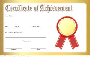 Free Academic Achievement Certificate Template 4   Two inside New Academic Achievement Certificate Templates