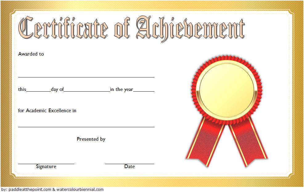 Free Academic Achievement Certificate Template 4 | Two inside New Academic Achievement Certificate Templates