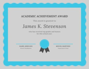 Free Academic Certificates Templates To Customize | Canva for Academic Award Certificate Template