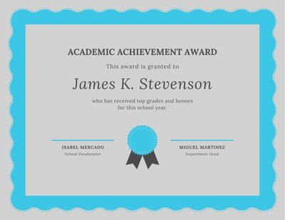 Free Academic Certificates Templates To Customize | Canva throughout Academic Achievement Certificate Templates