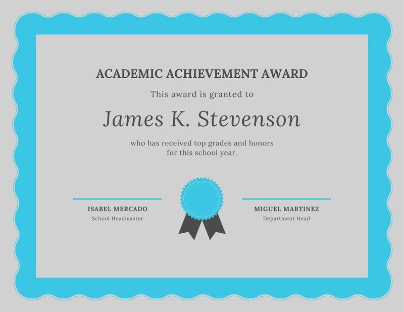 Free Academic Certificates Templates To Customize   Canva within Academic Achievement Certificate Template