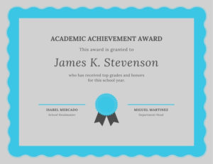 Free Academic Certificates Templates To Customize | Canva within Academic Award Certificate Template