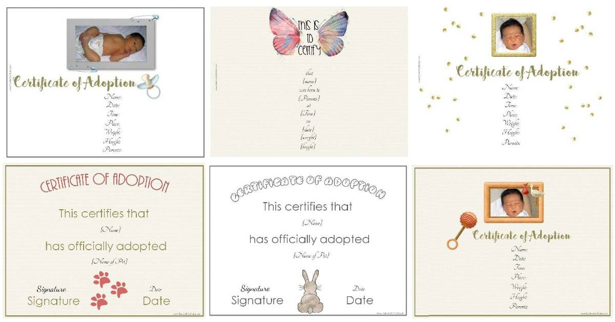 Free Adoption Certificate Template - Customize Online for Pet Adoption Certificate Template