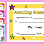 Free! – Amazing Attendance Award Certificate – Template – Twinkl With Regard To Perfect Attendance Certificate Template Editable