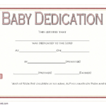Free Baby Dedication Certificate Word Document [14+ Ideas] Inside Free Fillable Baby Dedication Certificate Download