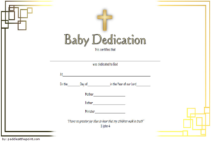 Free Baby Dedication Certificate Word Document [14+ Ideas] pertaining to Baptism Certificate Template Word 9 Fresh Ideas