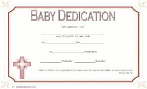 Free Baby Dedication Certificate Word Document [14+ Ideas] regarding Unique Baptism Certificate Template Word 9 Fresh Ideas