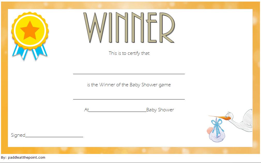 Free Baby Shower Game Winner Certificate Template 2   Free regarding Baby Shower Winner Certificates